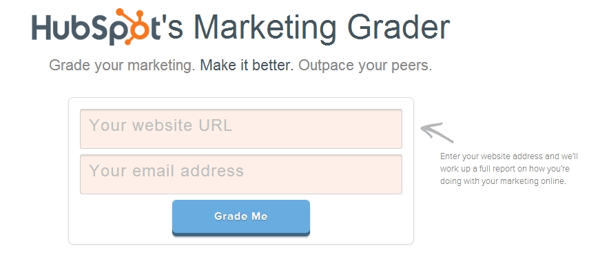 Hubspots marketing grader