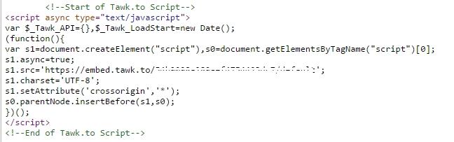 Code tích hợp vào website