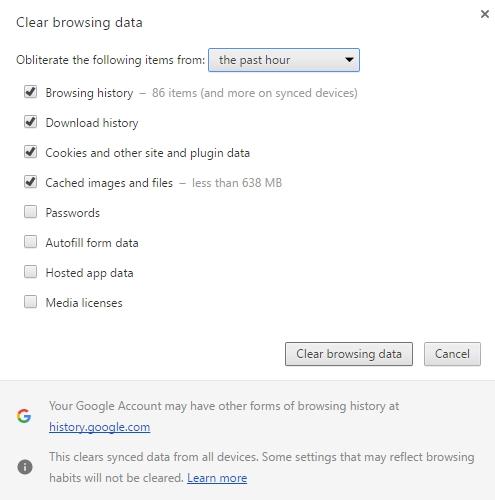 Quản lý bộ nhớ tạm trên Chrome