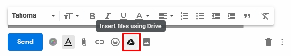 Insert Google Drive trong gmail